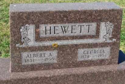 HEWETT, ALBERT A. - Clay County, South Dakota | ALBERT A. HEWETT - South Dakota Gravestone Photos