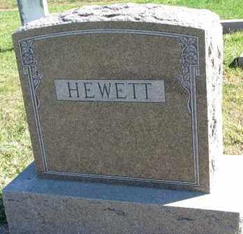 HEWETT, FAMILY STONE - Clay County, South Dakota   FAMILY STONE HEWETT - South Dakota Gravestone Photos