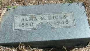 HICKS, ALMA M. - Clay County, South Dakota   ALMA M. HICKS - South Dakota Gravestone Photos
