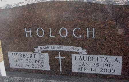 HOLOCH, HERBERT C. - Clay County, South Dakota | HERBERT C. HOLOCH - South Dakota Gravestone Photos