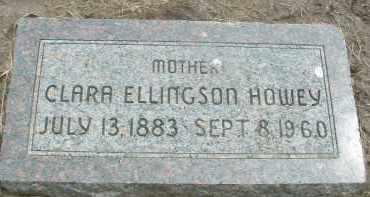 ELLINGSON HOWEY, CLARA - Clay County, South Dakota   CLARA ELLINGSON HOWEY - South Dakota Gravestone Photos