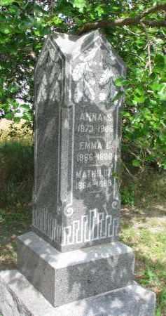 HOYER, ANNA S. - Clay County, South Dakota | ANNA S. HOYER - South Dakota Gravestone Photos