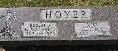 HOYER, EDITH E. - Clay County, South Dakota | EDITH E. HOYER - South Dakota Gravestone Photos