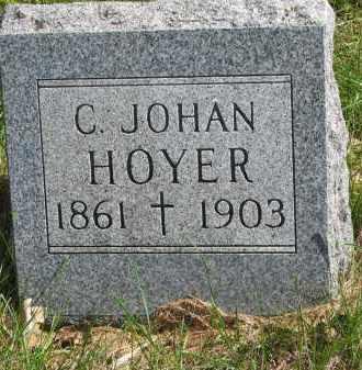 HOYER, C. JOHAN - Clay County, South Dakota | C. JOHAN HOYER - South Dakota Gravestone Photos