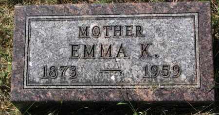 HOYER, EMMA K. - Clay County, South Dakota   EMMA K. HOYER - South Dakota Gravestone Photos