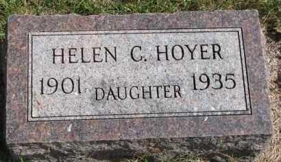 HOYER, HELEN C. - Clay County, South Dakota | HELEN C. HOYER - South Dakota Gravestone Photos