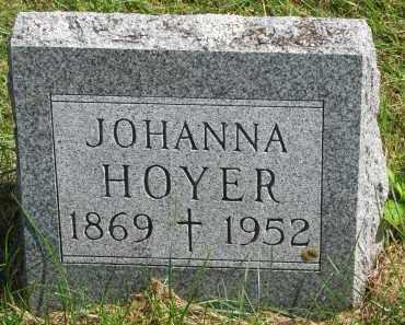 HOYER, JOHANNA - Clay County, South Dakota | JOHANNA HOYER - South Dakota Gravestone Photos