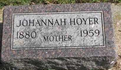 HOYER, JOHANNAH - Clay County, South Dakota | JOHANNAH HOYER - South Dakota Gravestone Photos