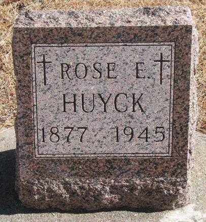 HUYCK, ROSE E. - Clay County, South Dakota | ROSE E. HUYCK - South Dakota Gravestone Photos
