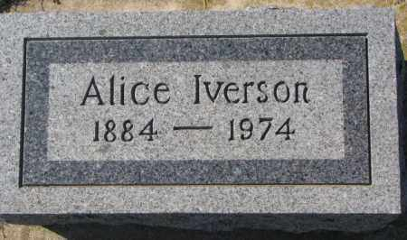 IVERSON, ALICE - Clay County, South Dakota | ALICE IVERSON - South Dakota Gravestone Photos