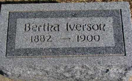 IVERSON, BERTHA - Clay County, South Dakota | BERTHA IVERSON - South Dakota Gravestone Photos