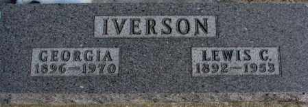 IVERSON, LEWIS C. - Clay County, South Dakota | LEWIS C. IVERSON - South Dakota Gravestone Photos