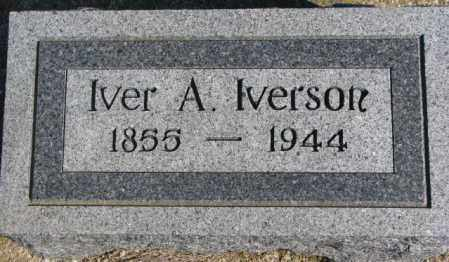 IVERSON, IVER A. - Clay County, South Dakota   IVER A. IVERSON - South Dakota Gravestone Photos