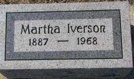 IVERSON, MARTHA - Clay County, South Dakota | MARTHA IVERSON - South Dakota Gravestone Photos