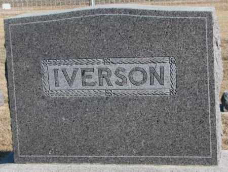 IVERSON, PLOT - Clay County, South Dakota | PLOT IVERSON - South Dakota Gravestone Photos