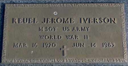 IVERSON, REUEL JEROME (WW II) - Clay County, South Dakota | REUEL JEROME (WW II) IVERSON - South Dakota Gravestone Photos