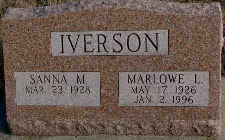 IVERSON, SANNA M. - Clay County, South Dakota | SANNA M. IVERSON - South Dakota Gravestone Photos