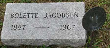 JACOBSEN, BOLETTE - Clay County, South Dakota | BOLETTE JACOBSEN - South Dakota Gravestone Photos