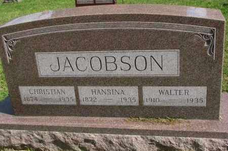 JACOBSON, WALTER - Clay County, South Dakota | WALTER JACOBSON - South Dakota Gravestone Photos
