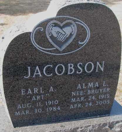 "JACOBSON, EARL A. ""ART"" - Clay County, South Dakota | EARL A. ""ART"" JACOBSON - South Dakota Gravestone Photos"