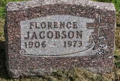 JACOBSON, FLORENCE - Clay County, South Dakota | FLORENCE JACOBSON - South Dakota Gravestone Photos