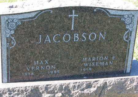JACOBSON, MAX VERNON - Clay County, South Dakota | MAX VERNON JACOBSON - South Dakota Gravestone Photos
