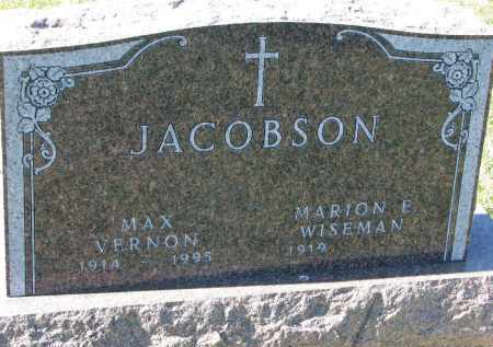 JACOBSON, MAX VERNON - Clay County, South Dakota | MAX VERNON JACOBSON - South Dakota Gravestone Photos