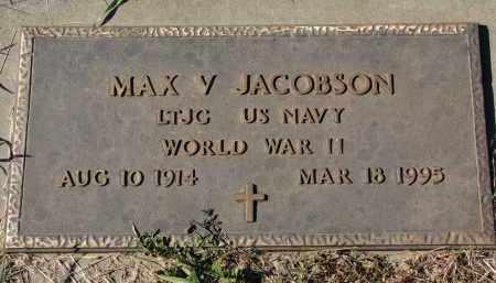 JACOBSON, MAX V. (WW II) - Clay County, South Dakota   MAX V. (WW II) JACOBSON - South Dakota Gravestone Photos