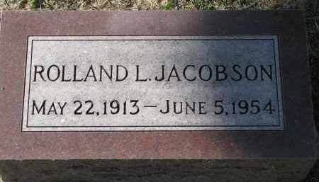 JACOBSON, ROLLAND L. - Clay County, South Dakota | ROLLAND L. JACOBSON - South Dakota Gravestone Photos