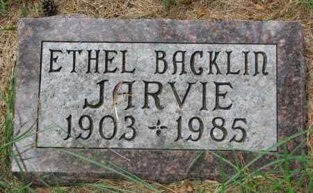 BACKLIN JARVIE, ETHEL - Clay County, South Dakota | ETHEL BACKLIN JARVIE - South Dakota Gravestone Photos