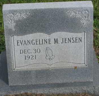 JENSEN, EVANGELINE M. - Clay County, South Dakota | EVANGELINE M. JENSEN - South Dakota Gravestone Photos