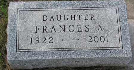 JENSEN, FRANCES A. - Clay County, South Dakota   FRANCES A. JENSEN - South Dakota Gravestone Photos