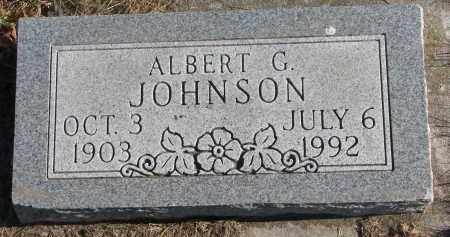 JOHNSON, ALBERT G. - Clay County, South Dakota   ALBERT G. JOHNSON - South Dakota Gravestone Photos
