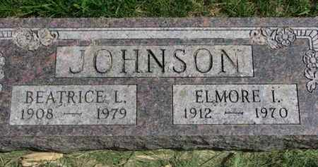 JOHNSON, ELMORE I. - Clay County, South Dakota | ELMORE I. JOHNSON - South Dakota Gravestone Photos