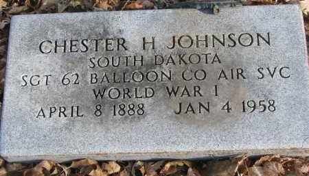 JOHNSON, CHESTER H. - Clay County, South Dakota | CHESTER H. JOHNSON - South Dakota Gravestone Photos