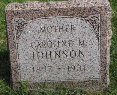 JOHNSON, CAROLINE M. - Clay County, South Dakota   CAROLINE M. JOHNSON - South Dakota Gravestone Photos