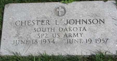 JOHNSON, CHESTER L. (MILITARY) - Clay County, South Dakota | CHESTER L. (MILITARY) JOHNSON - South Dakota Gravestone Photos