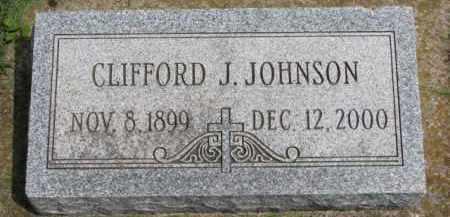 JOHNSON, CLIFFORD J. - Clay County, South Dakota | CLIFFORD J. JOHNSON - South Dakota Gravestone Photos