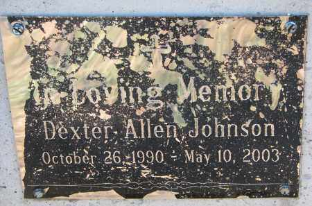 JOHNSON, DEXTER (CLOSEUP) - Clay County, South Dakota | DEXTER (CLOSEUP) JOHNSON - South Dakota Gravestone Photos