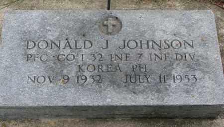 JOHNSON, DONALD J. - Clay County, South Dakota   DONALD J. JOHNSON - South Dakota Gravestone Photos