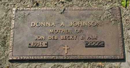 JOHNSON, DONNA A. - Clay County, South Dakota | DONNA A. JOHNSON - South Dakota Gravestone Photos