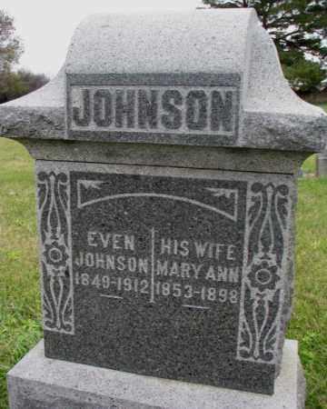 JOHNSON, MARY ANN - Clay County, South Dakota   MARY ANN JOHNSON - South Dakota Gravestone Photos