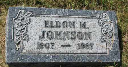 JOHNSON, ELDON M. - Clay County, South Dakota   ELDON M. JOHNSON - South Dakota Gravestone Photos
