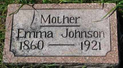 JOHNSON, EMMA - Clay County, South Dakota | EMMA JOHNSON - South Dakota Gravestone Photos