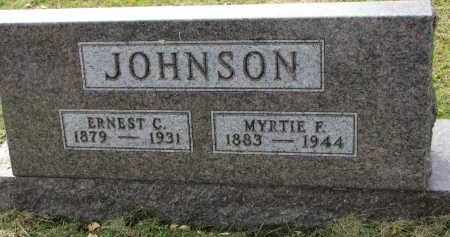 JOHNSON, MYRTIE F. - Clay County, South Dakota | MYRTIE F. JOHNSON - South Dakota Gravestone Photos