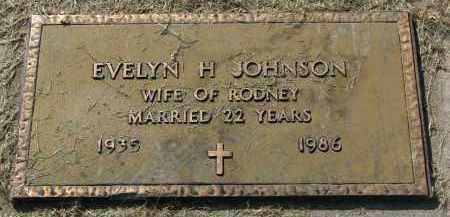 JOHNSON, EVELYN H. - Clay County, South Dakota | EVELYN H. JOHNSON - South Dakota Gravestone Photos