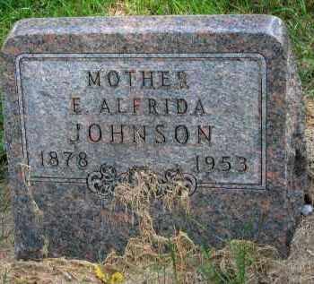 JOHNSON, E. ALFRIDA - Clay County, South Dakota | E. ALFRIDA JOHNSON - South Dakota Gravestone Photos