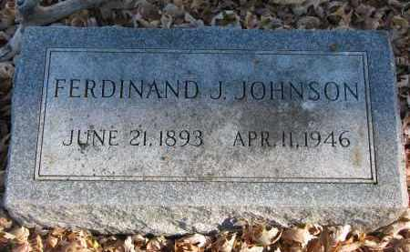 JOHNSON, FERDINAND J. - Clay County, South Dakota | FERDINAND J. JOHNSON - South Dakota Gravestone Photos