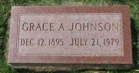 JOHNSON, GRACE A. - Clay County, South Dakota   GRACE A. JOHNSON - South Dakota Gravestone Photos