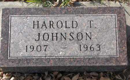 JOHNSON, HAROLD T. - Clay County, South Dakota   HAROLD T. JOHNSON - South Dakota Gravestone Photos